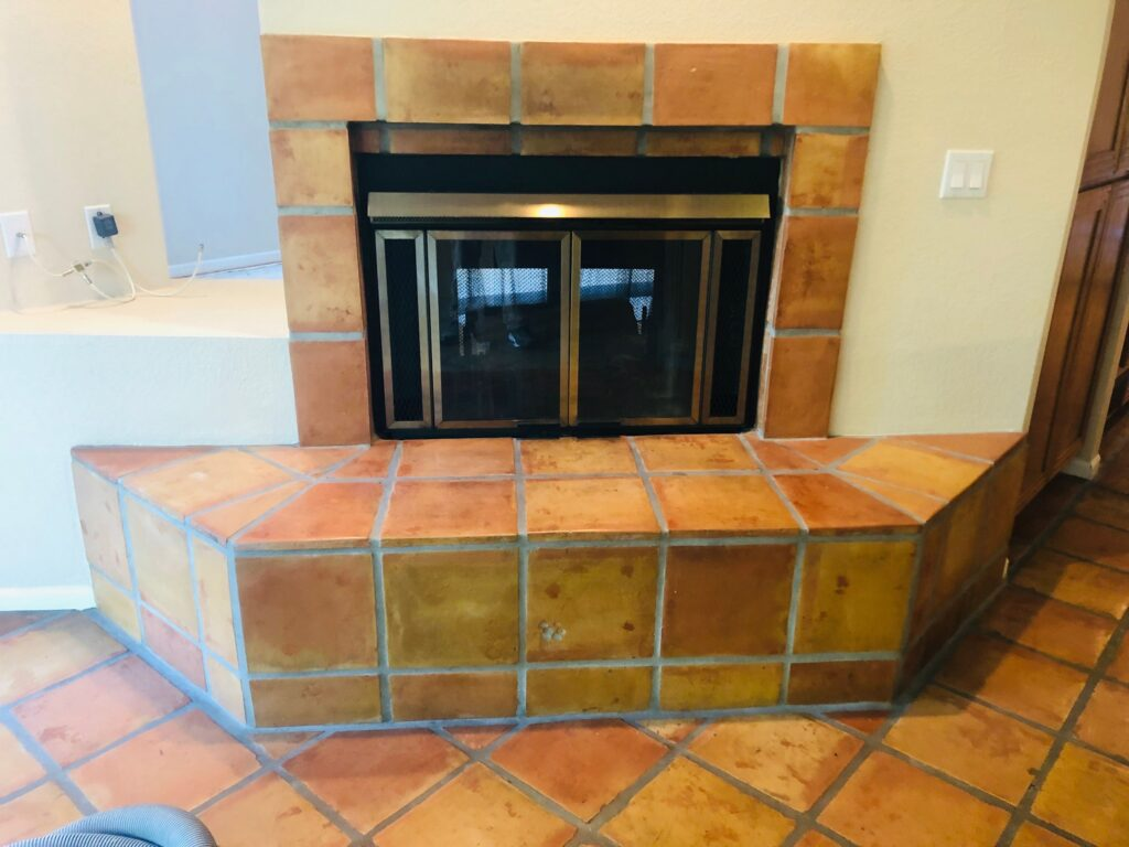 fireplace tile removal